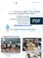 5-Hatanaka-STEM Education in Japan – Best Practices and Lesson Learned From the Fields_PPT