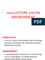 Agriculture and the Environment Poerpoint