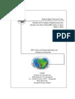 ANÁLISE DA EVOLUÇÃO POPULACIONAL DOS DISTRITOS DE OURO PRETO/MG ENTRE OS ANOS 2000 E 2010.
