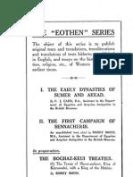The first campaign of Sennacherib