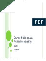1-Chapitre 3_ Méthodes de Formulation Des Bétons - PDF