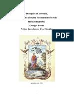 Dionysos Et Hermés, imaginaire des communications sociales et transculturalité. Georges Bertin