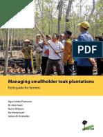 Managing smallholder teak plantations