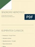 Síndrome nefrótico
