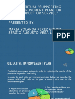 "Evidencia 9 - Sesión Virtual ""Supporting Your Improvement Plan for Your Product or Service"""