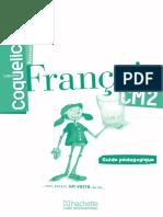 Coquelicot. Français. Collection CM2. Guide pédagogique