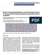 Study of Chlorophyll Mutations and Chlorophyll Content in Young Oil Palm (Elaeis guineensis Jacq) after Gamma Irradiation
