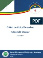 Caderno de MMD (O Uso de VoiceThread No Contexto Escolar) 2018.2 RDDI