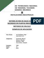 Sistemas de red de agua contra incendios en plantas industriales. Métodos de cálculo