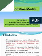 DS-Session-Transportation Models and Transshipmnet
