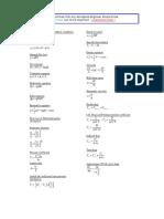 Useful Aerospace Formulas