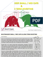 Multibagger Small Mid Caps & Long Term Investing Report