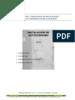 Certificado Electrico Tipo Instalacion de Autoconsumo