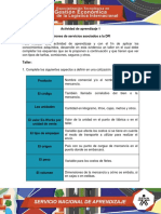 Actividad de Aprendizaje 1 Evidencia 11 Cotizaciones de Servicios Asociados DFI