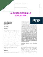 La Deserción en la Educación