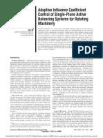 AdaptiveInfluenceCoefficientControlofSinglePlaneActiveBalancingSystemsforRotatingMachinery.pdf