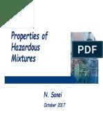 Properties of Hazardous Mixtures
