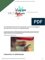 As Hipteses de Escrita Exemplos de Sondagens - Letras Que Inspiram (1)