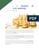 Concepto y Ejemplos de Estrategias de Marketing