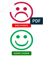 Emoticon good/bad choice