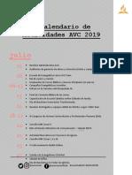 Calendario de Actividades II Semestre 2019