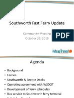 Southworth Fast Ferry Update