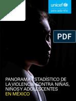 Panorama estadístico de la violencia contra niñas, niños y adolescentes en México 2019