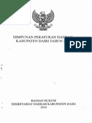 Himpunan Peraturan Daerah Kabupaten Dairi Tahun 2016