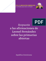 Respuesta del PLD a Leonel Fernandez