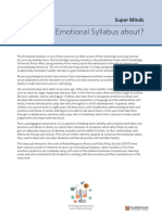 What's the Emotional Syllabus about?