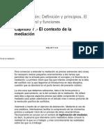 La Mediación- Definición y principios. El Mediador- rol y funciones