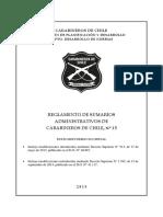 Reglamento Nro. 15 de Sumarios Administrativos de Carabineros
