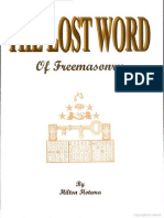 The Lost Word of Freemasonry by Hilton Hotema