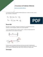 Demostración de Ecuaciones de Pendiente Deflexión