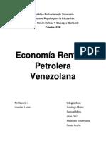 Economia Rentista Petrolera Venezolana