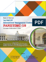 Book of Abstract First PAN IIT International Mangement Conference 2018
