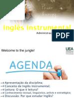 Aula Inglês instrumental