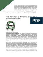 Jose Revueltas y La Estetica