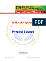 ICAR JRF Syllabus Physical Science