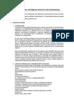 Estructura Informe Final Práctica Pre Profesional
