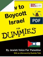 How To Boycott Israel For Dummies - New Campus Apartheid Edition