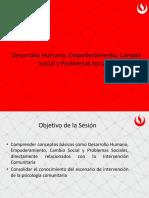Clase 3 - Desarrollo Humano, empoderamiento, cambio social y problema social.pptx