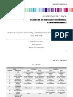 """""""Análisis de Coyuntura de Ecuador y Colombia en trece de los  indicadores en los años 2014-2018"""".docx"""