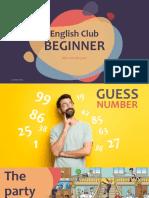 English Beginner W12