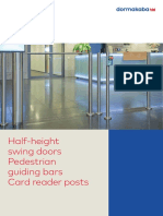 Half height swing door