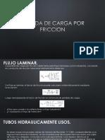 3 PERDIDA DE CARGA POR FRICCION.pptx