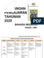 SOW ENGLISH YEAR 5 2020 by Rozayus Academy