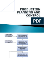 Production Planning and control (PPC)