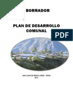 Borrador Plan de Desarrollo Comunal