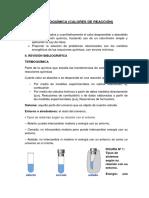 Termoquímica Laboratorio